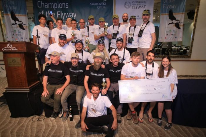 The winning teams at Champions of the Flyway 2018