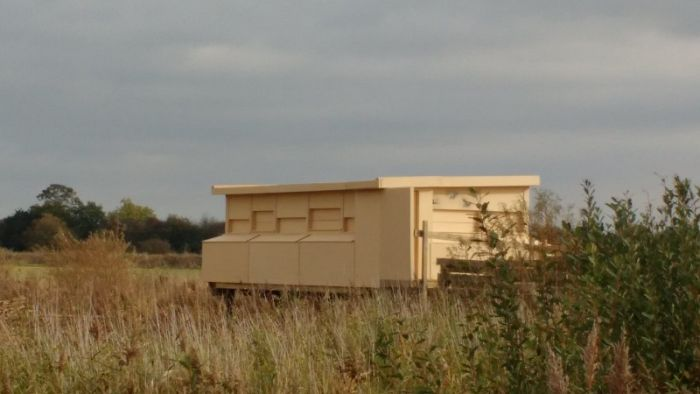 Swantail Hide overlooking the wild wetlands at Wheldrake